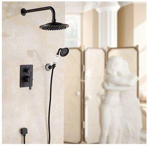 Ellen parete doccia Set vasca da bagno doccia Sistema bronzo Pioggia Cascata In Parete Bagno doccia calda e fredda Els10 bbyjOm packing2010