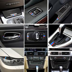 Для BMW старой 3 серии E90 E92 E93 автомобиль внутренняя подъемник подъемник подлокотник панель дверной ручкой Отделка Истинное уклонение углеродного волокна