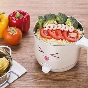 Poêles électriques poêles multifonctions en acier inoxydable poêle nouilles de riz cuiseur à la vapeur soupe oeuf soupe mini chauffage panarouche 1.5L