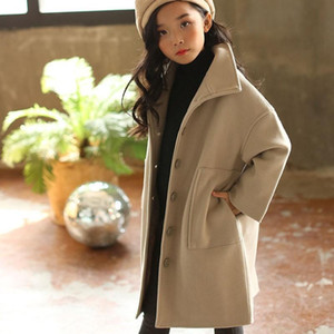 Teenage Girls Wool Coat Kids Overcoat Cotton Padded Children's Winter Jackets Christmas Autumn Mother And Daughter Clothing 2021