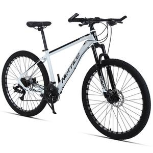 27,5 pouces 24 vitesses Vélo de montagne Haute résistance Alliage d'aluminium, Bicyclette de frein à double disque avec outils de réparation et pompes Vélo blanc