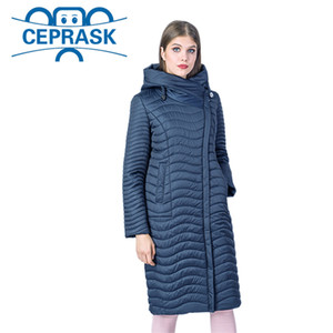 New Spring-Autumn Collection High Quality Women's Jacket Warm Windproof Thin Women Parka Long Plus Size Female Coat CEPRASK 201026
