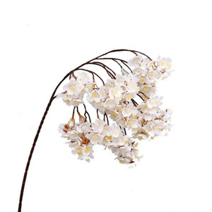 12 pcs Hanging Cherry Blossoms Artificial Cherry Blossoms Flowers Silk Flowers for Wedding Home Wall Decoration