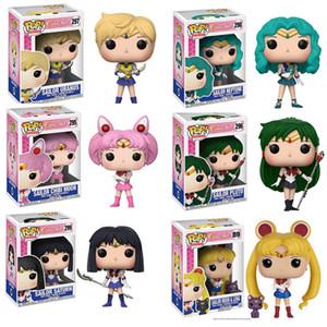 POP Sailor Moon&Luna Theme Figure Statue Hare Character Action Figure Doll Sailor Chibi Moon Sailor Neptune Gift for Girls X0121