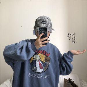 YouGeMan mejores amigos camiseta de otoño invierno Ulzzang Harajuku divertido Vintage Fleece Pullover sudaderas con capucha mujer de manga larga sudor 200930
