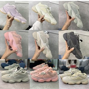 Soft Vision 500 Stone Bone White Running Shoes Mens Womens Super Moon Yellow Utility Black Blush Salt Kanye West stylist Sports Sneakers