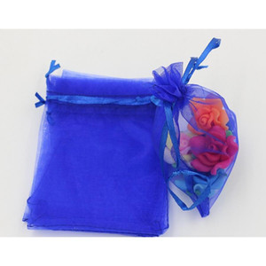 13X18Cm Hot 7X9Cm Nabfw Jewelry (Ab647) Gift Royal Organza ! Pouch Bags For Wedding Favors,Beads,Jewelry 9X11Cm Blue Qqpju