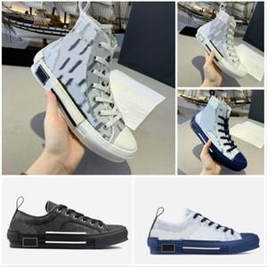 2020 B27 B22 B24 Designer Sneakers Obliques Couro Técnico 19SS Flores Técnico Outdoor Sapatos Casuais Técnico Couro Tênis Tamanho 35-45