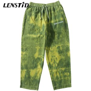 Lenstid 2020 Kalça Streetwear Erkekler Harajuku Baggy Pantolon Kadife Retro Jogger Sweatpant Vintage Track Pantolon Gevşek Harem Pantolon Q1219