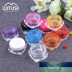 100Pcs Plastik Kavanoz Kare 3g 5g Kozmetik Konteynerleri Göz Farı Krem Kutusu Küçük Numune Makyaj Alt Şişeleme Tırnak Toz Kılıf