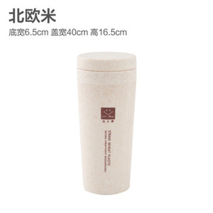 Vacuum Cup Double Deck Creative Portable With Cover Student Glass Wheat Straw Simplicity Water Cups Factory Direct Selling 4 99ld p1