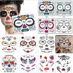 Disposable Eyeshadow Sticker Magic Eye Beauty Face Waterproof Temporary Tattoo Sticker For Makeup Stage Halloween Party Supplies Hh9 -2302