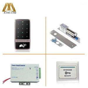 Toque Teclado puerta de acceso al lector de control de acceso M13D MF IC Tarjeta Impermeable Controlador de acceso 8000 usuarios Control único1