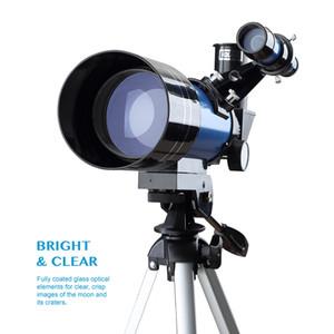 Freeshipping 70300 telescópio para iniciantes com tripé Adaptador de Telefone 1.5X montagem Ocular 3X Barlow Lens para Lua Assistindo caçoa o presente