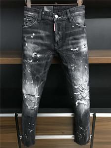 2020 New desenhadoresDSquaredDSQ2D220fw Homens Luxo Denim Jeans Buracos calças calças Biker Jeans Rock Revival Jeans A379 2