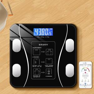 블루투스 욕실 지방 규모 BMI 무게 규모 스마트 전자 욕실 LED 디지털 홈 1
