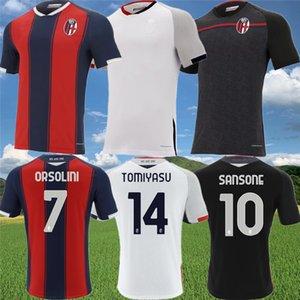 2020 2021 Bolonia FC 1909 jerseys de fútbol Angelo Schiavio Denswil casa Fuera tercera camisa de fútbol 20 21 Rossoblu Bolonia maillots de foot