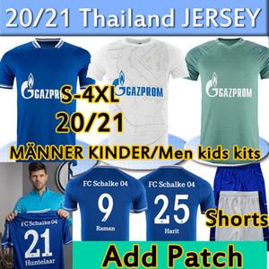 4XL 2020 2021 FC Schalke 04 Футбол Джерси Хантелаар Uth Raman Hoppe Bentaleb 20 21 Шальке Джетки Кутуку Маккени Мужчины Футбольная рубашка Брюки
