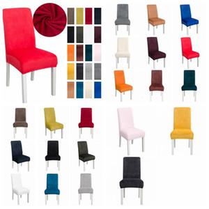 Covers Stretch Solid Soft Кресло Обложка Эластичный моющийся стул чехлы Главной Банкет Декор Свадебного Табурет Обложка море Доставка AHC2652