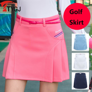 Woman Golf Short Skirt Summer Pleated Slimming Pantskirt Anti Light Golf Shorts Tennis Safety Wrinkle Skorts XS-XXL