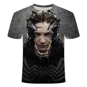 2019 Nuevo Venom 3D Impreso T Shirts Hombres Camisa Casual Camisa de manga corta Fitness Tops Masculino Tops Peso Levantamiento de base Capa de base Tamaño asiático WMTZCE
