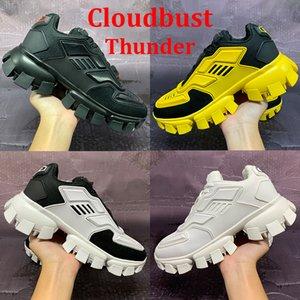 En iyi Yeni Platform Ayakkabı Cloudbust Thunder Sneaker Üçlü Siyah Beyaz Sarı Erkekler Açık Sneakers Deri Lace Up Moda Chaussures 40-45