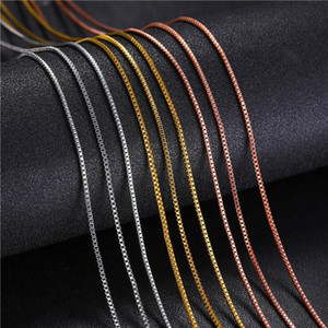 New DIY Chain Stainless Steel Cuban Link Chain Necklaces For Women Pendant Jewelry Solid Gold Tone Gifts Miami Curb