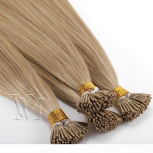 Wholesale Brazilian European I-tip Human 1g strand 50g Double Drawn Pre-bonded Virgin Remy Human Straight Keratin Hair Extensions