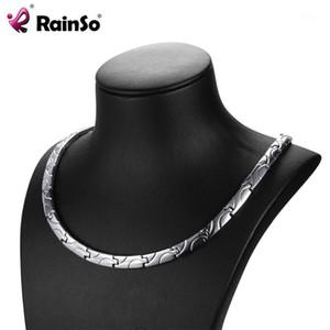 Rainso Bio Energy Magnetic Cellace 2019 Мода Заживление Титана Сила Ожерелья Classic Link Для Женщин Здоровья Ювелирные Изделия1