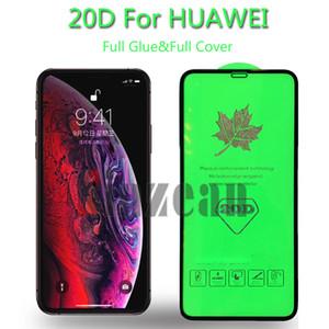 Tela 20D completa Glue vidro temperado Protector Para Huawei Y5 Lite / Y5 Prime / Y6 Prime / Y5 2018 / Y5 primeiro-2018 / Y6 Pro