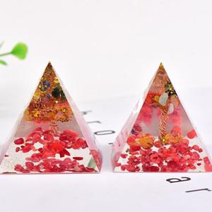 1PC Pyramid Orgonite Silicone Mould DIY Resin Decor Craft Jewelry Making Mold Natural Crystal Gravel Reiki Pyramid Chakra Gifts1