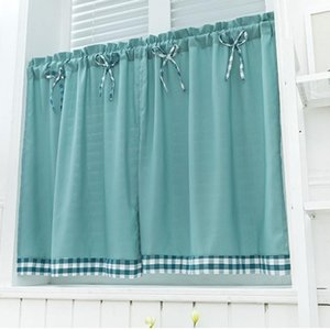 Valance Soggiorno Pastorale Cucina Dorm breve cortina di oscuramento Window Treatment decorazione della casa della Camera Lattice del nodo Bordo