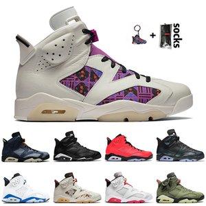 retro 6 6s travis scott Vente chaude 2020 Hommes Basketball Chaussures Floral Slam dunk Sport jean délavé bleu JUMPMAN Travis Hare formatrices Sneakers