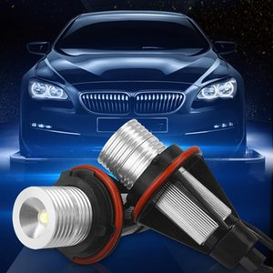2pcs Pair Angel Eye E39 Car LED Headlight Lamp For Dropshipping 12V 5W 6000K White Auto Light Bulb 5 Colors Optional