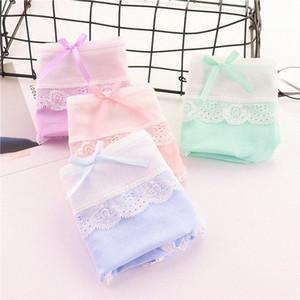 8pc / lot gangls bragas encaje ropa interior para adolescentes niños de algodón de algodón calzoncillos 10-18 años Yrn0 #