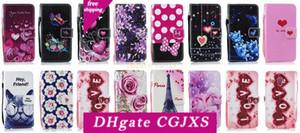 Für Iphone Xr 6 .1inch Xs Max 6 .5inch Blumen-Liebes-Leder-Mappen-Kasten für Sony Xa1 Xa2 XZ1 Xz2 L1 L2 Schmetterling Paris Eiffelturm Flip Cove