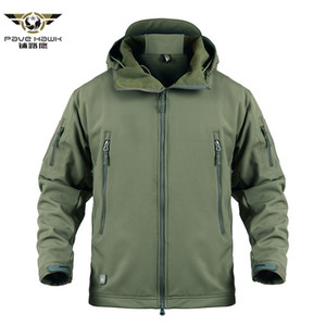 Shark Skin Military Tactical Jacket Men Softshell Waterpoof Camo Camouflage Windbreaker Army Hood Combat Jacket Male Winter Coat Y1112