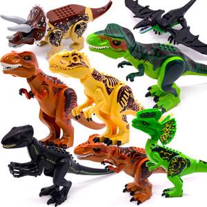 Jurassic World 2 Dinosaurio Brutal Rapaz Minifig Minifig Figuras Compatible con el ejército Bloques de construcción Mini ladrillos Dino Coche Ciudad Juguetes para niños Niños