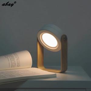 Abay Gece aydınlatması LED Katlanabilir Ahşap Taşınabilir Fener Abajur İçin Çocuk Kitabı Işık Çocuk Yatak Odası Aydınlatma LED