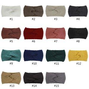 Bandeau en tricot de mode Femmes Sports Sports Bandeau d'automne et d'hiver Femmes Cheveux Coiffures Cross Bandeau HHXD24367