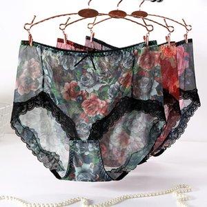 3pcs / lot mince intimate slips filles sous-vêtements plus taille 5XL Sexy Lingeries Sexy Mesh TRANSPARENT Culotte femme Culotte femme