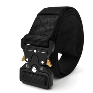 Alta qualità tattica tessitura di nylon Riggers Vita all'aperto Heavy Duty rapido rilascio fibbia regolabile Cintura Formazione metallo