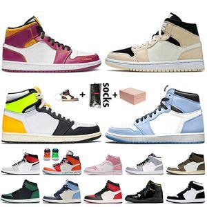 Jumpman 1 scarpe retro off white 2020 stock x scarpe da ginnastica da uomo scarpe da basket vela di alta qualità 4 4s jumpman 1 fumo grigio chicago 12 12s hyper royal