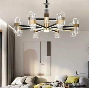 Modern acrylic chandelier in living room Nordic living room dining room bedroom lamps