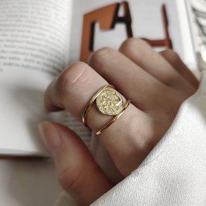 Silvology 925 en argent sterling sirène Anneaux d'or ronde Cheveux longs anneaux Creative élégant pour Charm femmes Bijoux mode cadeau 201026