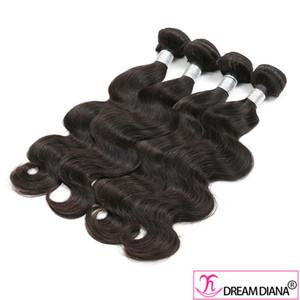 3 Bundles Virgin Remy Human Hair Weave Body Wave 10A Grade Unprocessed Brazilian Peruvian Natural Black Color Same Direction Cuticle 3Pcs Lot