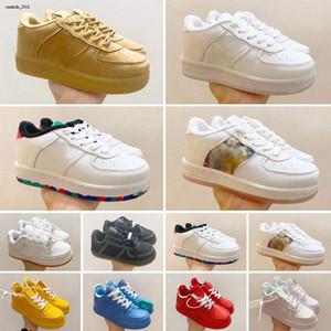 Kids Pas Cher Classic 1 Designer Chaussures Haute Coupe Enfants Boucle Chaussures Chassures One Enfant Sneakers Enfant Baskets Basketball EUR22-35