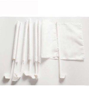 12x18inches White Blank Autofahne Sublimation Flagge 100D Polyester Auto-Qualitäts-Fenster mit 43cm Plastikpfosten freiem Verschiffen AHF2235 Druck