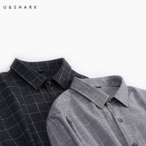 U&SHARK Black Plaid Shirts for Men Cotton Casual Flannel Shirt Men Long Sleeve Vintage Clothes Checkered Shirt Male Top Quality 201021