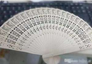 wedding favors 100pcs lot Chinese folding fragrance wood hand fans Chinese folding wooden fans